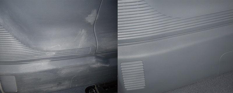 Reparación plástico maletero coche