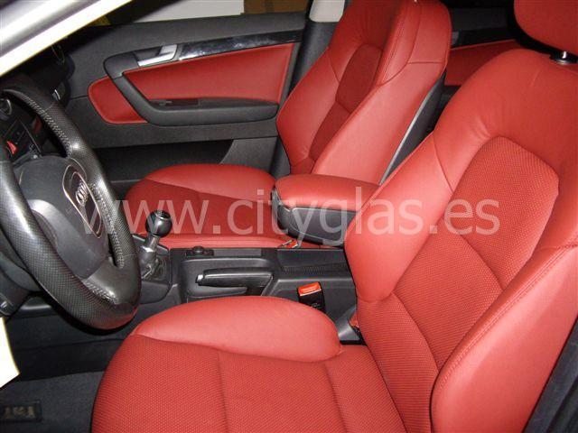 Tapizado completo Audi rojo