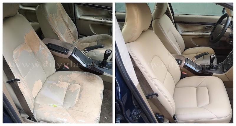 reparar tapicería de asientos de coche en piel