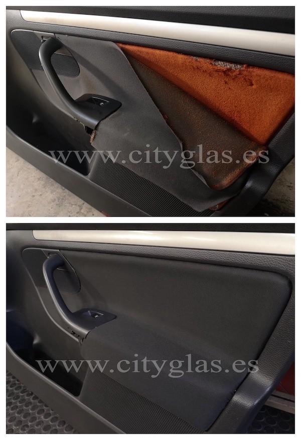 tapizar panel de puerta despegado coche