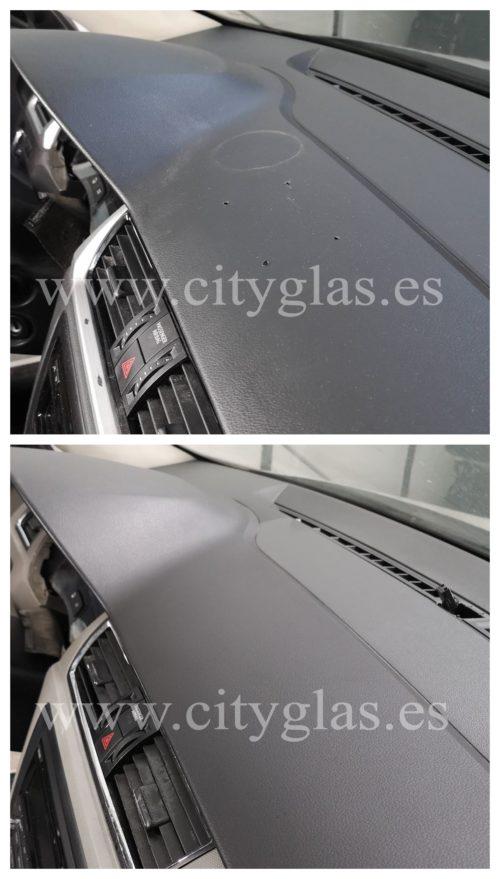 arreglar agujeros en salpicadero de coche taxi