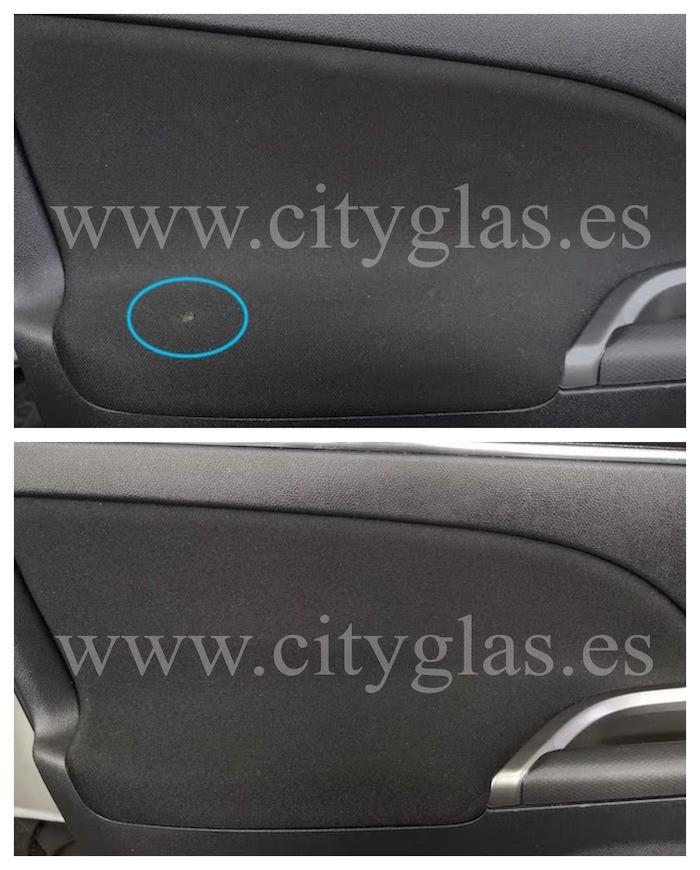 reparar quemaduras en tela de coche