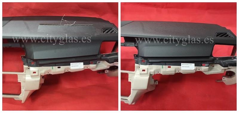 reparar salpicadero con tapa de airbag saltada