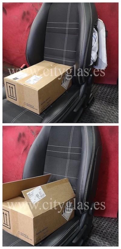 Cambiar y coser airbag en asiento de coche