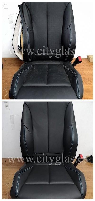 Coser lateral asiento de coche por airbag saltado