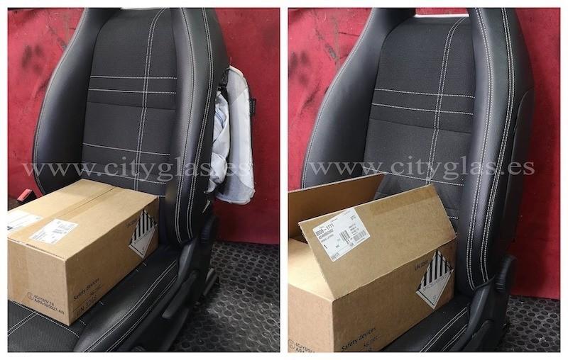cambiar airbag y arreglar asiento de coche