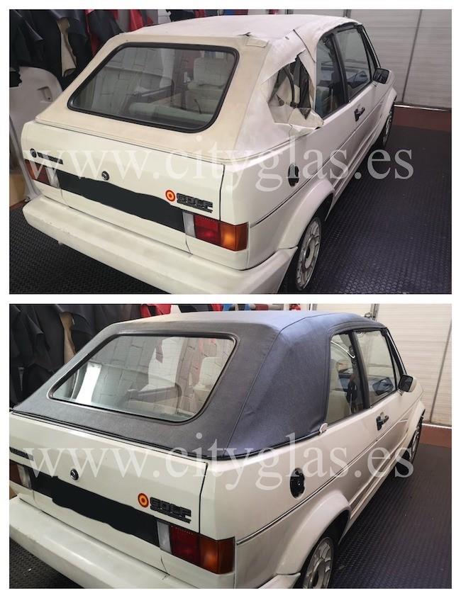 Cambiar capota coche VW GOLF MK1 (MK2)