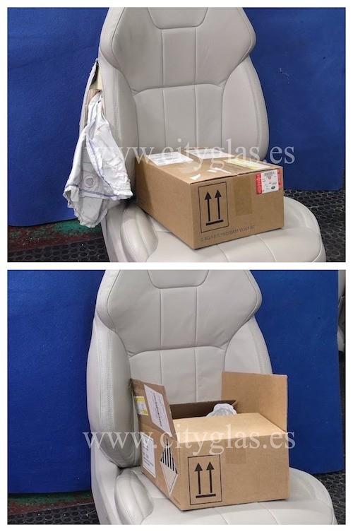 Cambio y cosido de airbag en asiento de coche