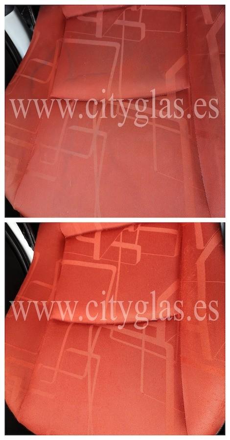 limpieza y desinfección de tapicería coche