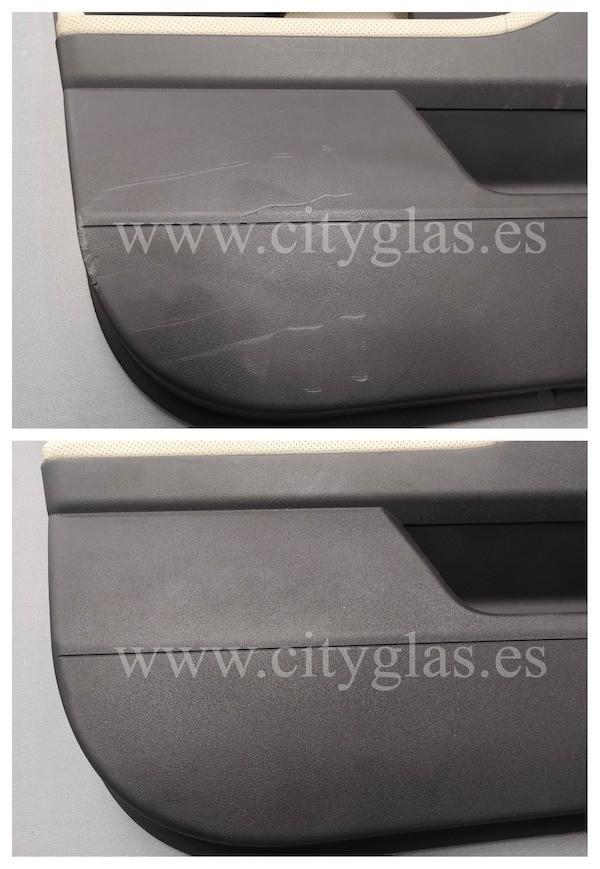 restaurar panel de puerta arañado coche