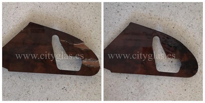 arreglar molduras de madera en coche