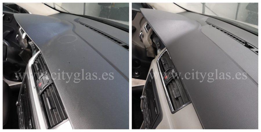 reparar agujeros en salpicadero de coche
