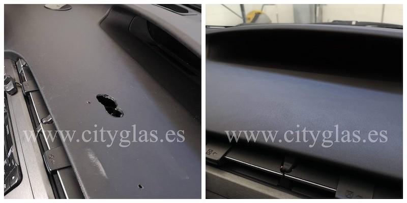 arreglar agujeros en salpicadero de taxi