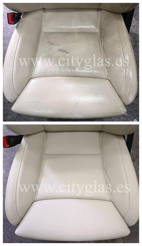 arreglar tapicería asientos de cuero