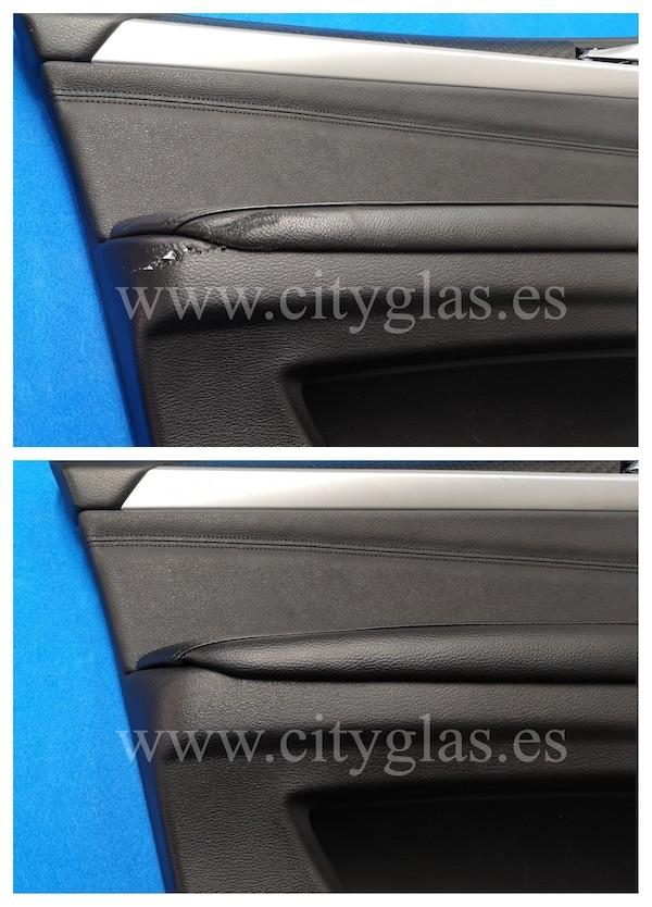 reparar panel de puerta arañado coche