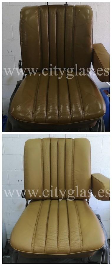 restauración de asientos de piel de coche clásico