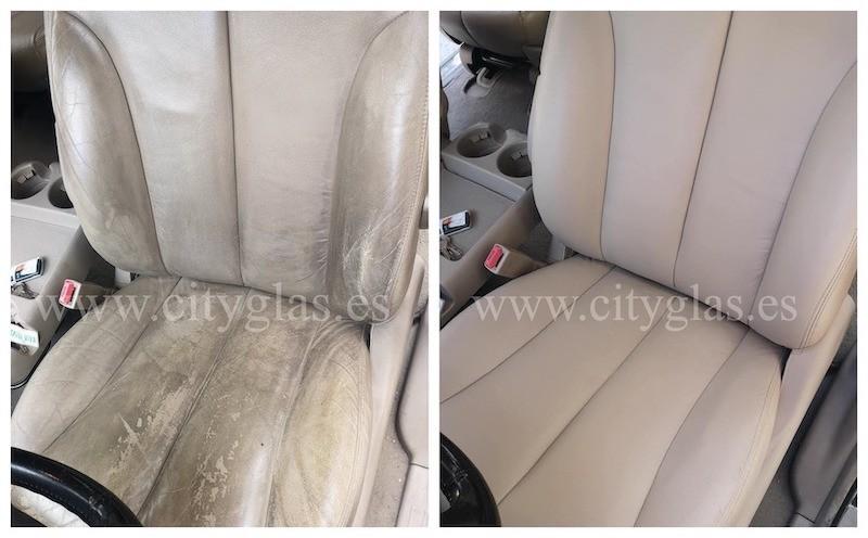 arreglar asientos de piel