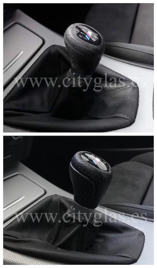 tapizado de palanca de cambios de coche