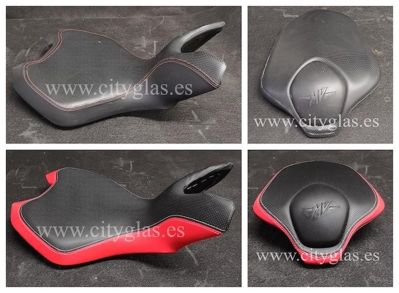 personalización de asiento de moto