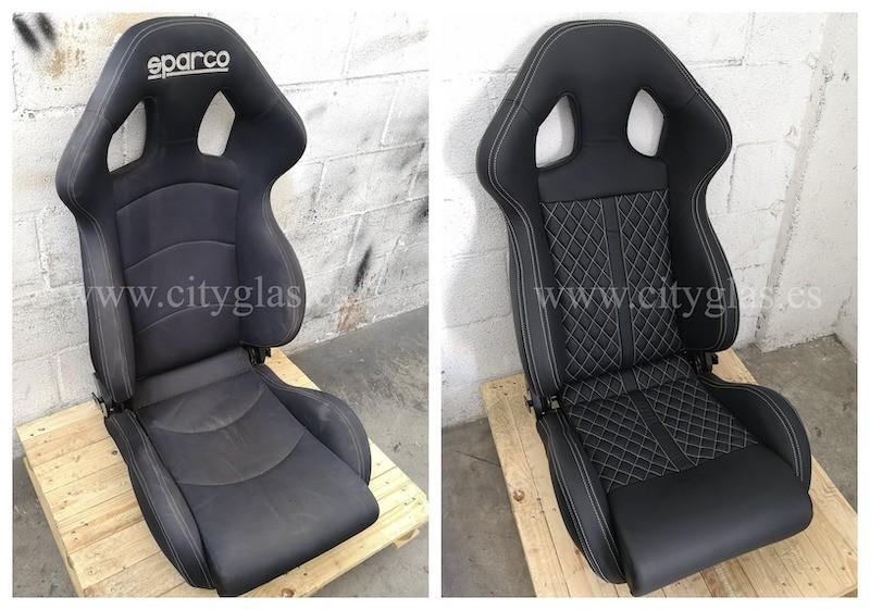 tapizar asientos recaro en piel