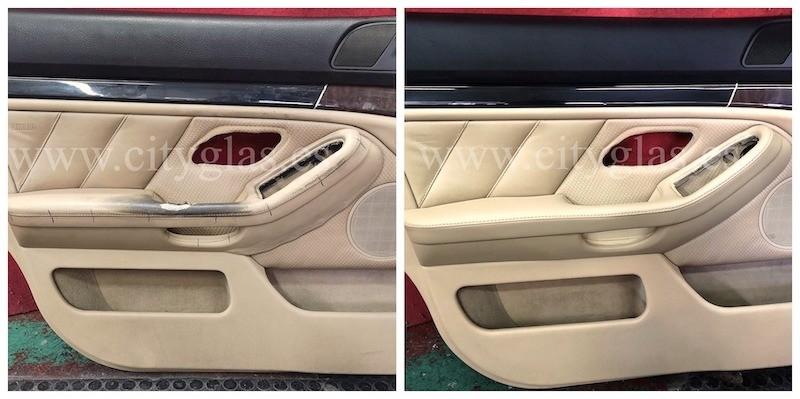 Tapizado de panel de puerta BMW en piel