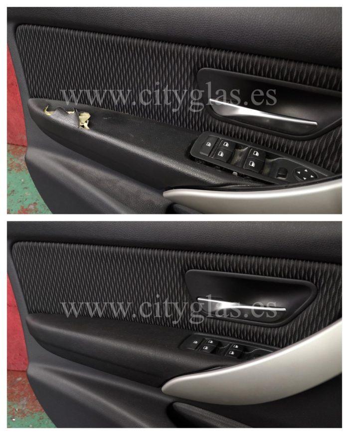 reparar panel de puerta apoyabrazos coche