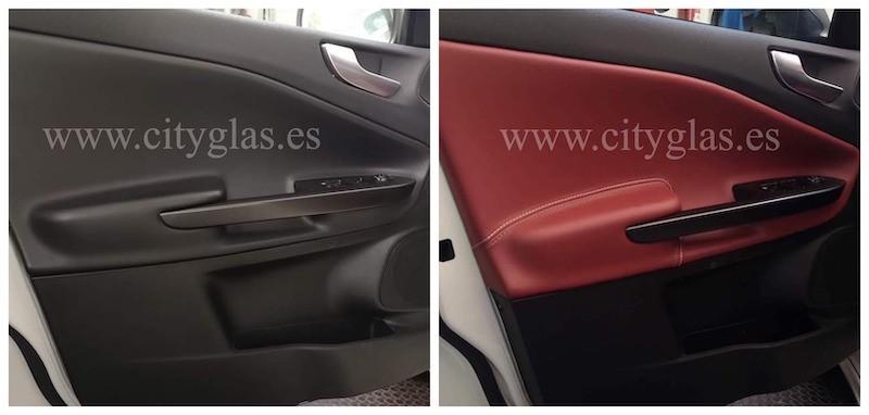 tapizar panel de puerta de coche en piel