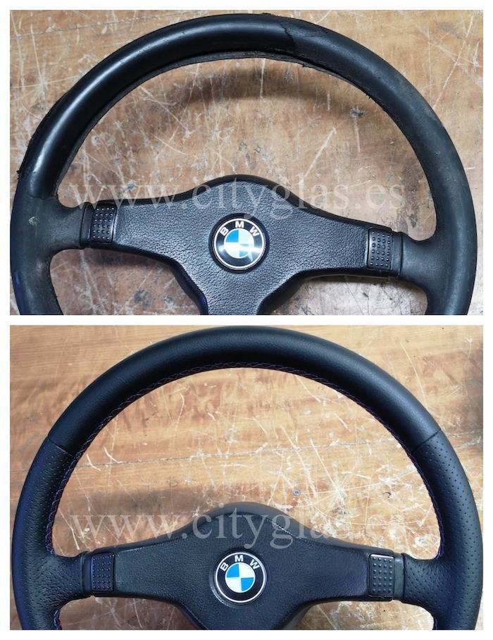 tapizado de volante bmw clásico